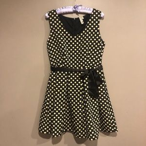 🎀 Polka dot A-line dress